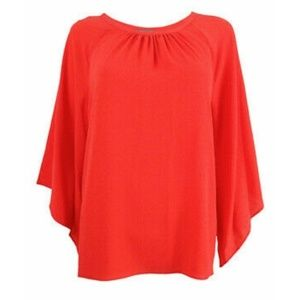 Vince Camuto Kimono Sleeve Ruched Neck Top